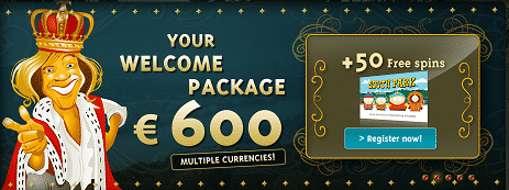 50 Free Spins On South Park