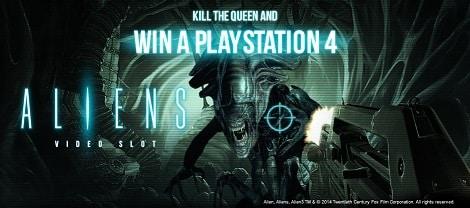Aliens video slot promotion