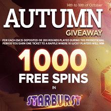 Autumn Giveaway At NextCasino