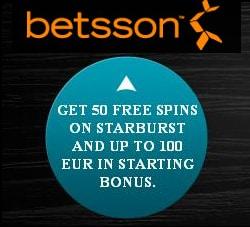 Sign Up Bonus at Betsson