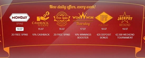 Betsson free spins and tournament