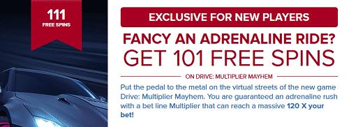 101 Free Spins On Drive: Multiplier Mayhem