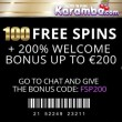100 Free Spins & 200% Bonus At Karamba