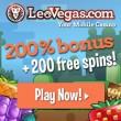 Leo Vegas 200 Free Spins & 200% Bonus