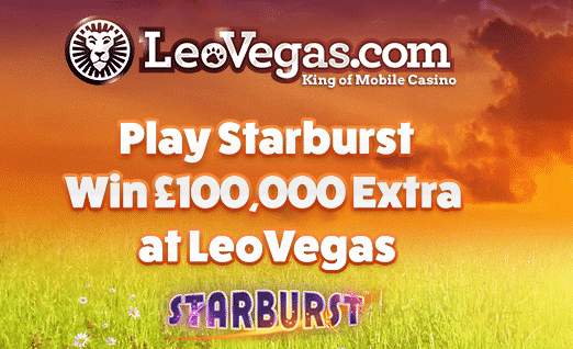 Starburst promotion at Leovegas