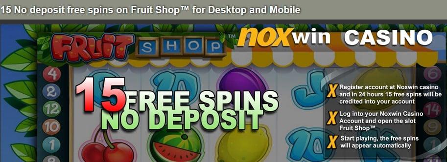 15 No Deposit Free Spins