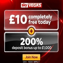Big Games, Big Prize Draws - £10,000 from Sky Vegas