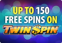 150 Free Spins On Twin Spin