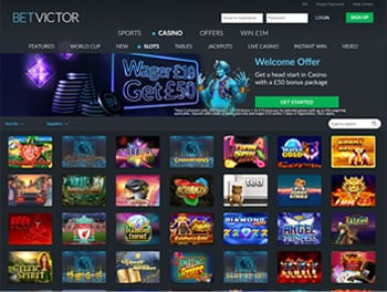 Betvictor Casino Slots Page