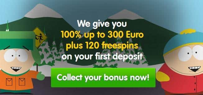 120 free spins casino room