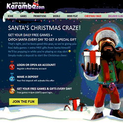 Christmas at Karamba Casino