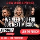 Free spins missions - every single hour at casino LetsBet